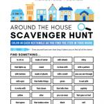 Around the house scavenger hunt